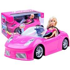 Anlily Lalka w różowym cabrio auto dla lali ZA2461