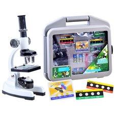 Metalowy Mikroskop zestaw młodego naukowca ES0024