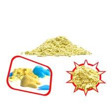 Kinetinis smėlis 1 kg Geltonos spalvos
