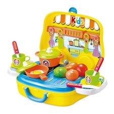 Virtuvėlės rinkinys lagaminas su priedais