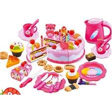 Rožinės spalvos Gimtadienio rinkinys 80 elem.
