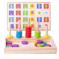 Medinis edukacinis Montessori rinkinys Išmok skaičiuoti