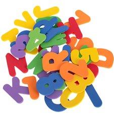 Minkštos raidės ir skaičiai maudynėms