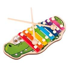 Muzikinis žaislas ksilofonas Krokodilas