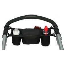 Buteliukų laikiklis tvirtinamas ant vežimėlio
