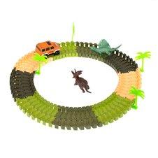 Automobilių trasa + dinozauras ir automobilis 78EL.