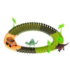 Automobilių trasa + dinozauras ir automobilis 106EL.