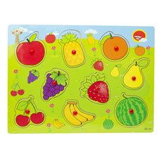 Medinė dėlionė sudėk Vaisius