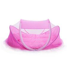 Kelioninė lovytė su tinkleliu nuo uodų 3in1 Rožinė