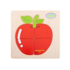 Układanka drewniana dopasuj kształty jabłko
