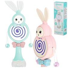 Grzechotka gryzak zabawka interaktywna królik