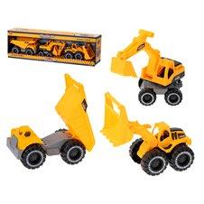 Maszyny samochody budowlane zestaw 3 szt.