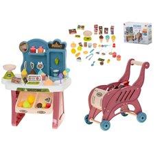 Vaikiškas prekystalis su vežimėliu 40 priedų