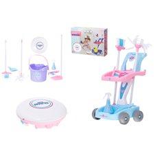 Žaislų rinkinys su dulkių siurbliu robotu