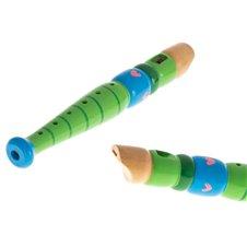 Flet drewniany instrument szkolny kolorowy
