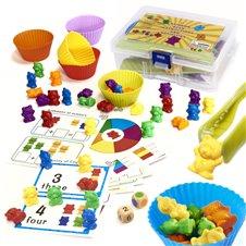 Edukaciniai meškiukai Montessori Išmok skaičiuoti 45el.