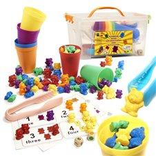 Edukaciniai meškiukai Montessori Išmok skaičiuoti 116el.