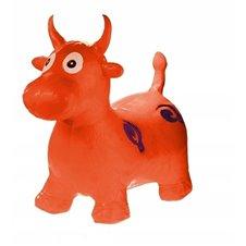 Skoczek gumowy krówka krowa czerwony