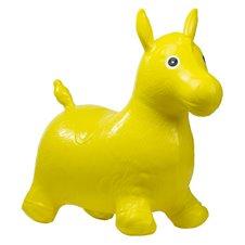 Pripučiamas arkliukas šokinėjimui Geltonas