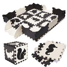 Puzzle piankowe mata dla dzieci 25el. czarno-białe