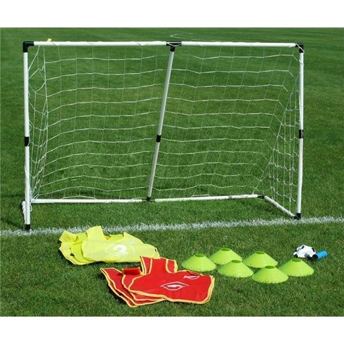 Futbolo vartai 2in1 su priedais