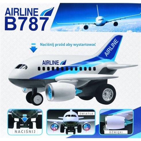 Didelis žaislinis keleivinis lėktuvas