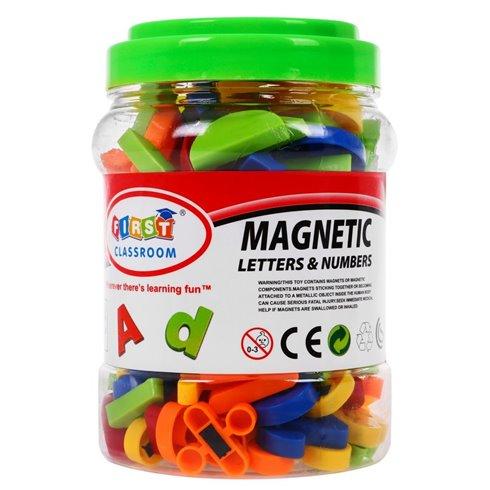 Magnetinės raidės skaičiai ir figūros 128 el.