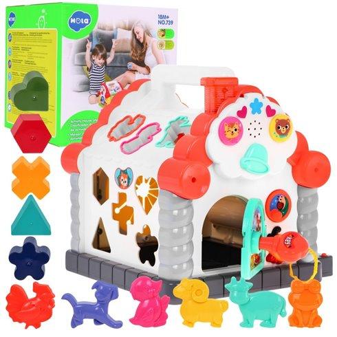 Interaktyvus - multifunkcinis vaikiškas namelis