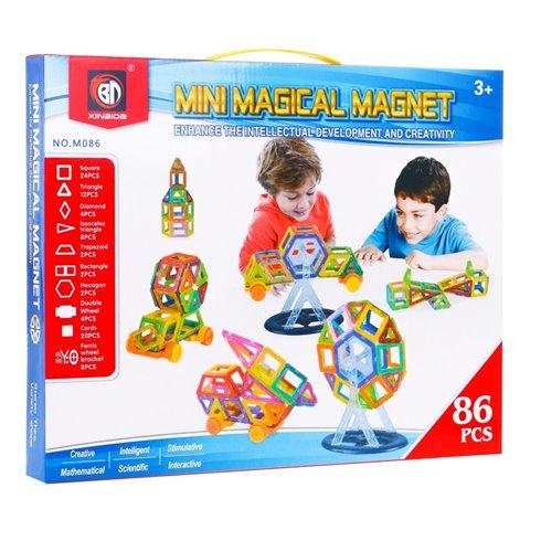Magnetinių dėlionių rinkinys 86 el.