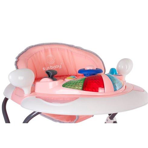 Vaikštynė Saulės Vaikas su sūpynėmis Rožinė-pilka