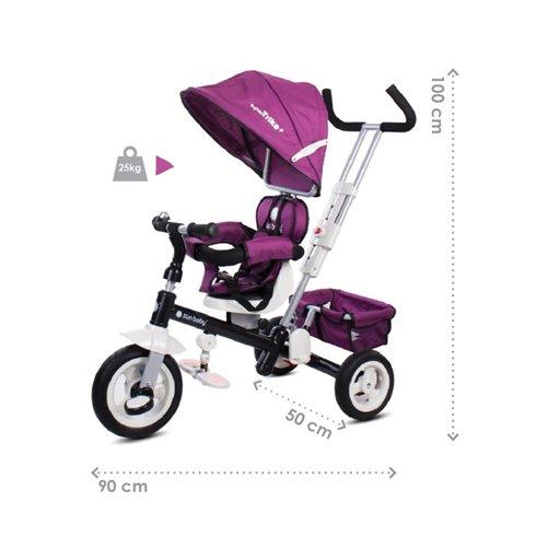 Triratukas su pasukama sėdyne Saulės Vaikas Super Trike Plus Bordo