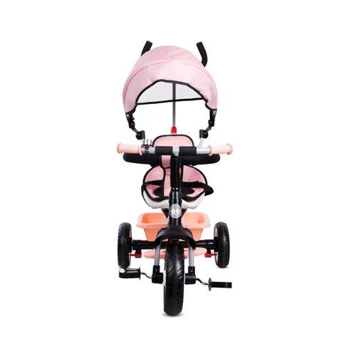 Triratukas su pasukama sėdyne Saulės Vaikas Fresh 360 Rožinis