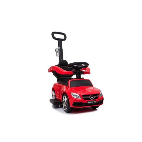Paspiriamoji mašinėlė Saulės Vaikas Mercedes AMG C36 Coupe su stūmimo rankena Red
