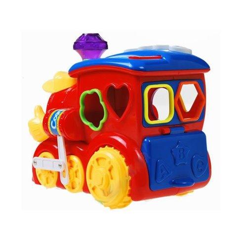 Interaktyvus lokomotyvas + spalvotos kaladėlėsPTP00104