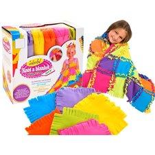Minkštos vilnos spalvota antklodė Pasidaryk pats JOK PTP01551