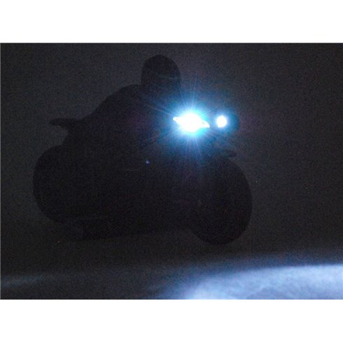 Valdomas sportinis motociklas, lenktyninis PTP00405 žalias
