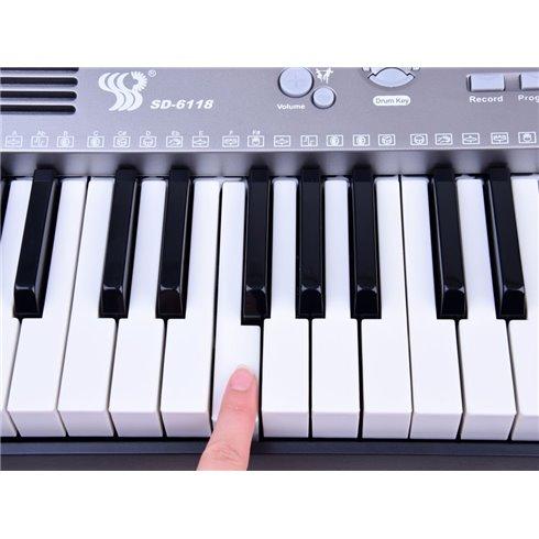 Vargonai su klaviatūra, 61 klavišai, mikrofonas SD-6118 PTP00106