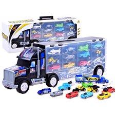 Didelis sunkvežimis su įvairiomis transporto priemonėmis JOK PTP02914