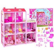 Duży dom + lalka i meble Willa dla lalek PTP03075
