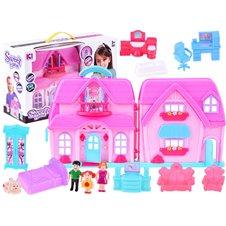 Sulankstomas lėlių namas su baldais JOK PTP03103