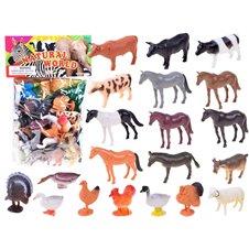 Zwierzęta z gospodarstwa 20 figurek z farmy PTP03105
