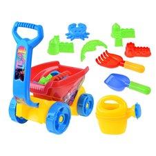 Smėlio žaislų rinkinys su vežimėliu JOK PTP03117