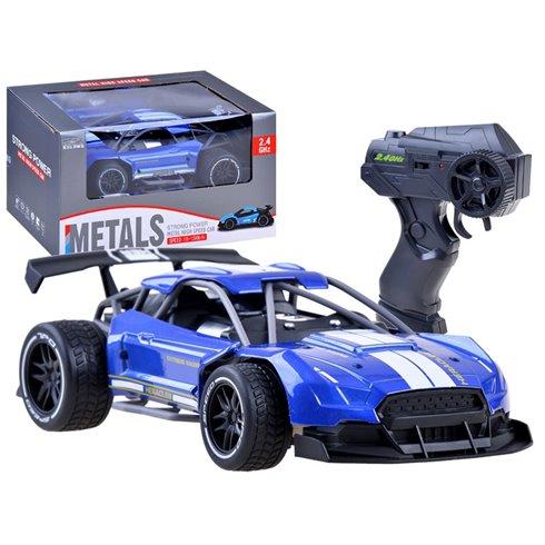 Greitas METALINIS nuotoliniu būdu valdomas automobilis PTP00518 mėlynas