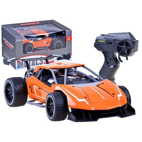 Greitas METALINIS nuotoliniu būdu valdomas automobilis PTP00520 oranžinis