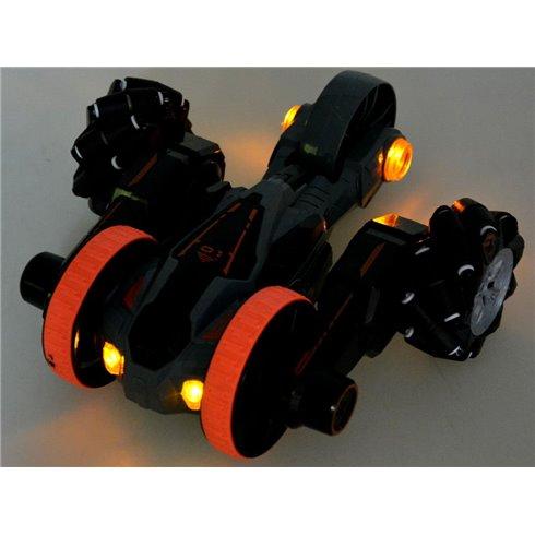 Laipiojimo automobilis Stunt 4WD su pultu PTP00525 oranžinis