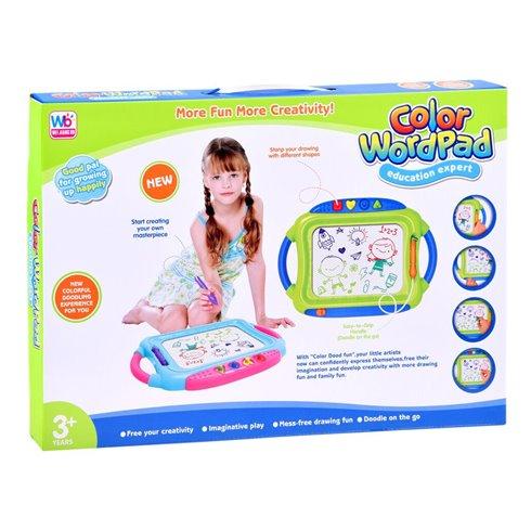 Magnetinė piešimo lentelė vaikams + antspaudai PTP00089 rožinė