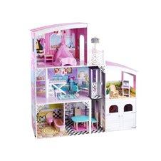 Wielki Domek dla lalek z garażem meble PTP03561