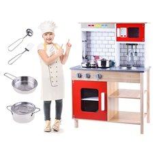 Drewniana Kuchnia z akcesoriami dla dzieci PTP03574