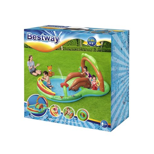 Pripučiama žaidimų aikštelė Bestway MIŠKAS baseinas 2,95x1,99x1,3m 53093