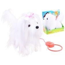 Interaktyvus baltas šuniukas su pavadėliu JOK PTP03575